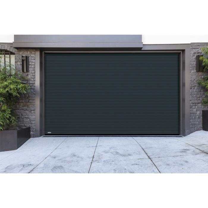 Porte De Garage A Enroulement Ral 7016 3000 X 2000 Idee Garage Portes De Garage Noirs Et Decoration Garage