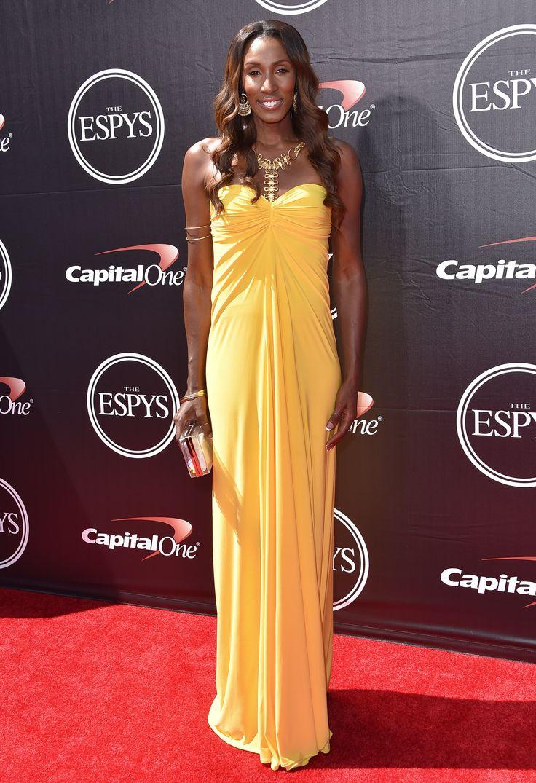WNBA Hall of Famer Lisa Leslie on the ESPYs red carpet.