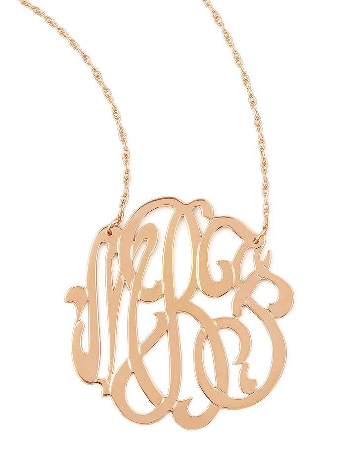 Rose Gold Initial Necklace - Jennifer Zeuner