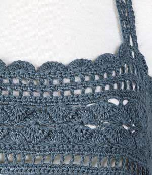 For tank tops: Crochet yoke, free pattern