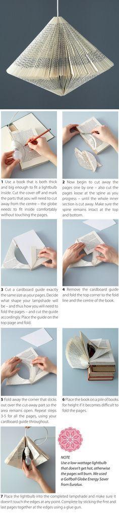prenez un livre enlever la couverture puis prendre une ampoule poser la en…