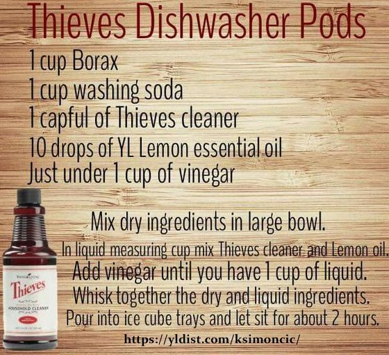 DIY Thieves Dishwasher Pods Young Living Essential Oils Thieves  Chemical Free Cleaning Chemical Free Home