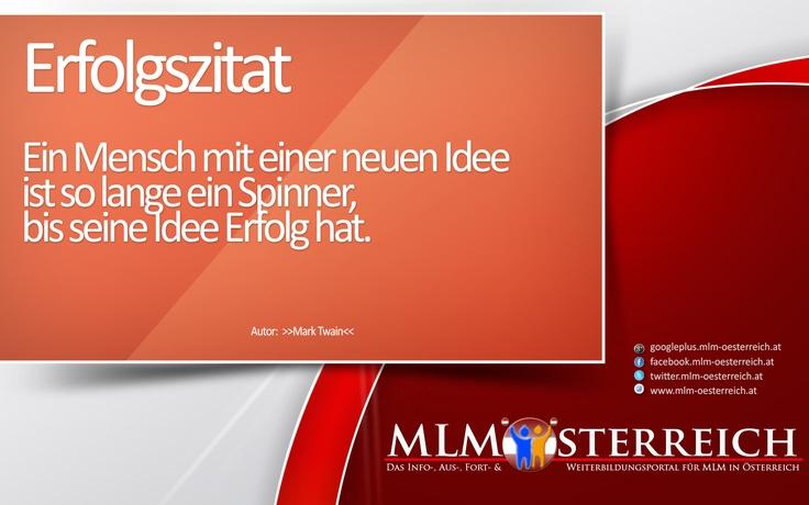 Erfolgszitat vom 01.05.2013 auf MLM-Österreich.at