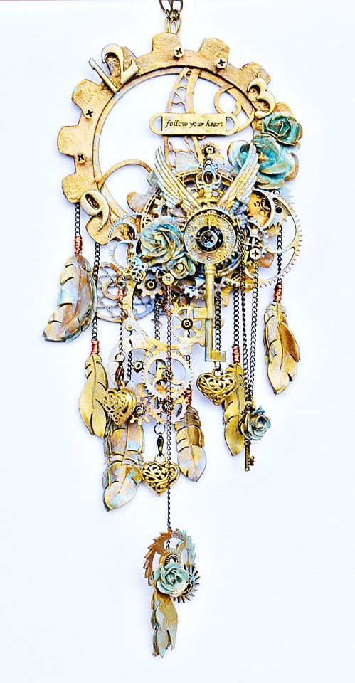 The Dusty Attic Blog: Steampunk Dreamcatcher - Joanne Bain - Challenge inspiration