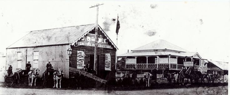 "The Ruhle family were in business in Maryborough and this is a photo of the original shop and house.The Ruhle family lived there until about 1925 when Woodhead and Moore took over the business, What we would like to know is - Was the house torn down, Was the house removed and rebuilt at approx 89-93 Richmond St ( later owned by the Rehrens), ""Everton Cottage in Richmond St was another residence that was owned by the Trussell ( John and Annie) and they were related to the Ruhles."