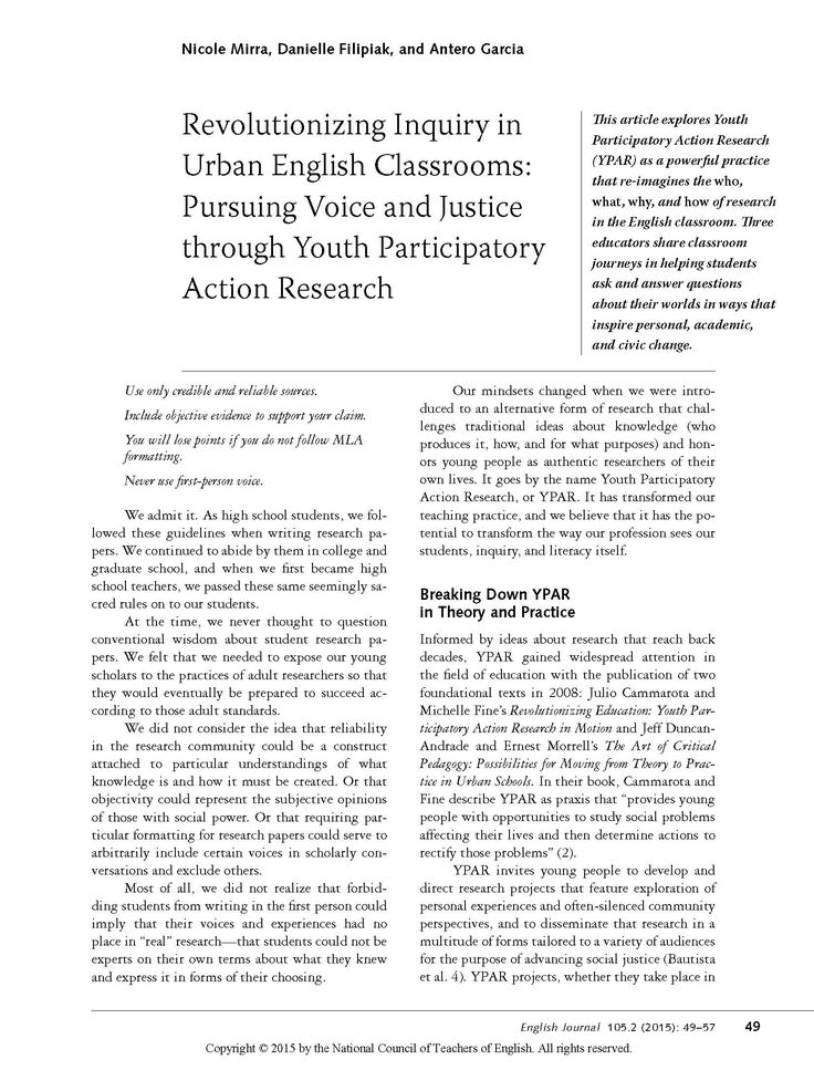 examples of action research in schools pdf