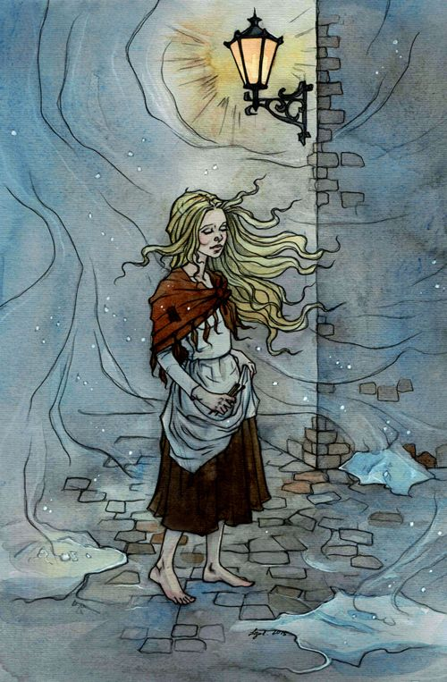 Little Match Girl. Cold wind by liga-marta.deviantart.com on @DeviantArt