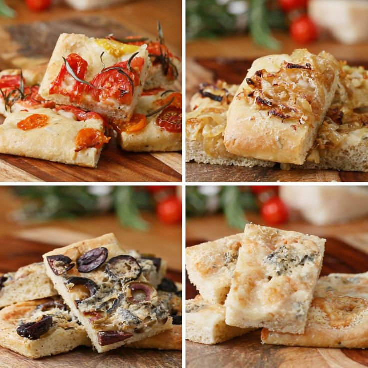 Herbed Flatbread (Foccacia) 4 Ways