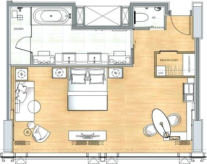 Hotel Room Layout Magnificent Hotel Room Floor Plan Small Hotel