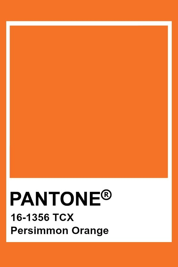 Pantone Persimmon Orange Fashion Home Tcx Colors Color