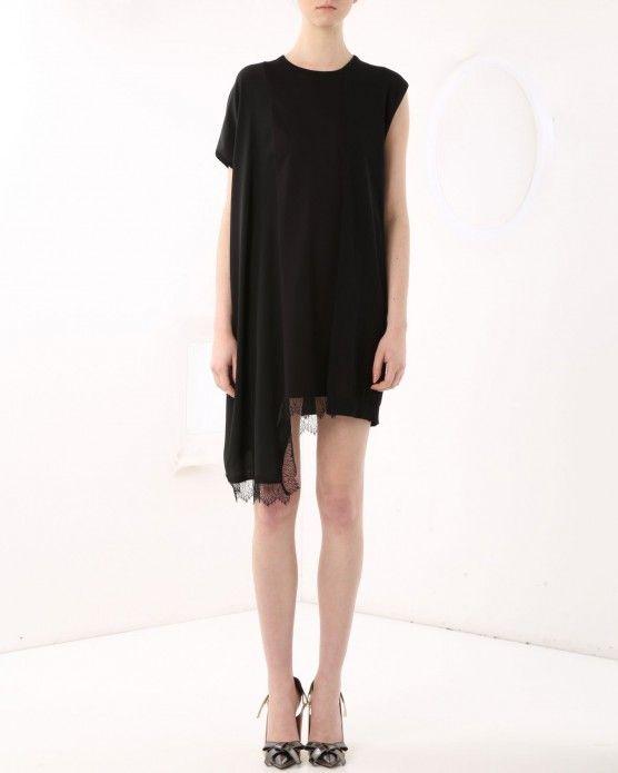 Asymmetrical dress N°21 #N21 #lace #dress #black #fashion #style #stylish #love #socialenvy #me #cute #photooftheday #beauty #beautiful #instagood #instafashion #pretty #girl