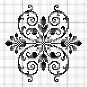 Other 08   Free chart for cross-stitch, filet crochet   Chart for pattern - Gráfico