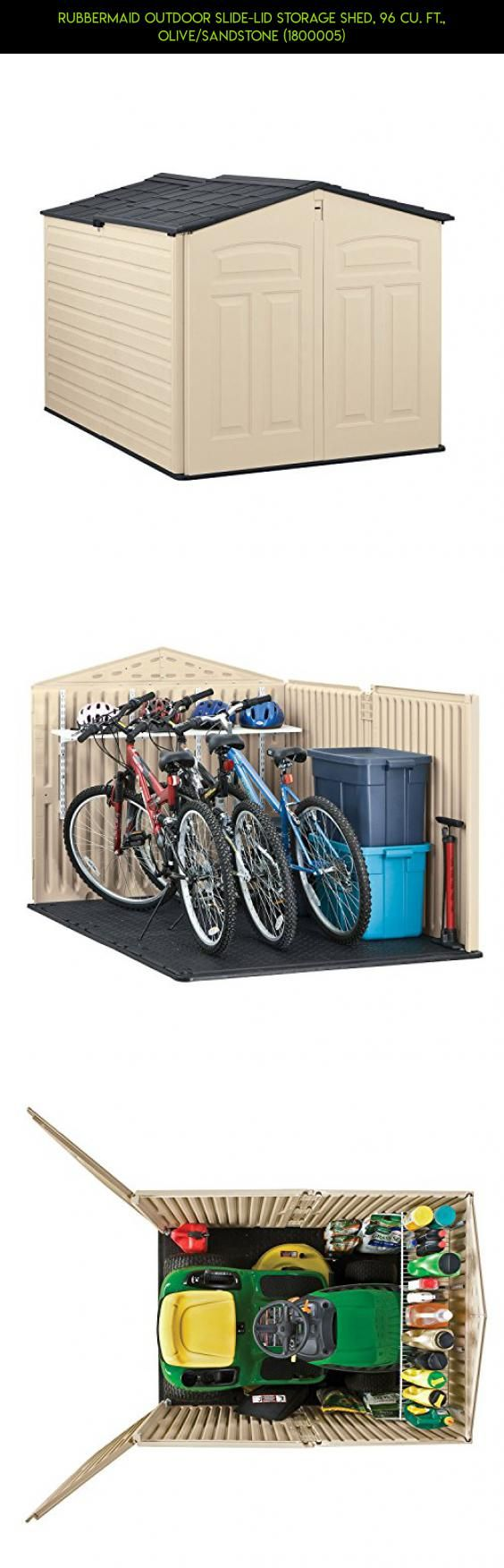 Rubbermaid Outdoor Slide-Lid Storage Shed, 96 cu. ft., Olive/Sandstone (1800005) #parts #drone #technology #kit #m #products #camera #tech #racing #storage #gadgets #fpv #shopping #plans