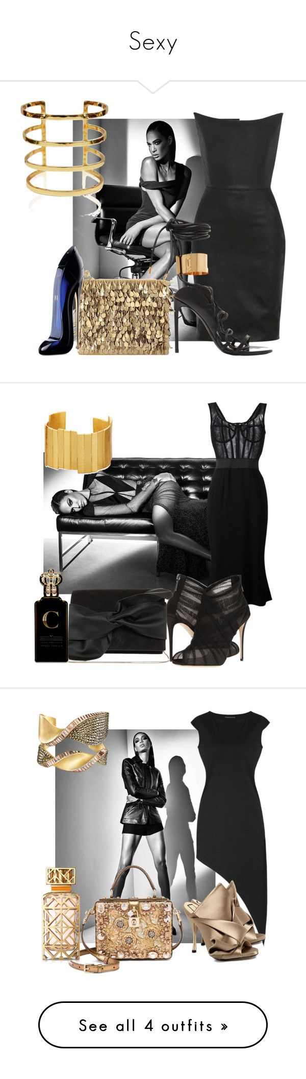 """""""Sexy"""" by sofiacalo ❤ liked on Polyvore featuring Gareth Pugh, Tom Ford, Forest of Chintz, Carolina Herrera, Dolce&Gabbana, Stephanie Kantis, Victoria Beckham, Clive Christian, N°21 and Tory Burch"""
