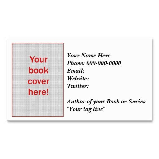 187 best writer business cards images on pinterest sign writer writers business card two sided customizable business card colourmoves Images