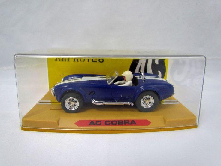 AC Cobra Blue with White Racing Stripes 1/32 Slot Car NIB NEW Reprotec #Reprotec