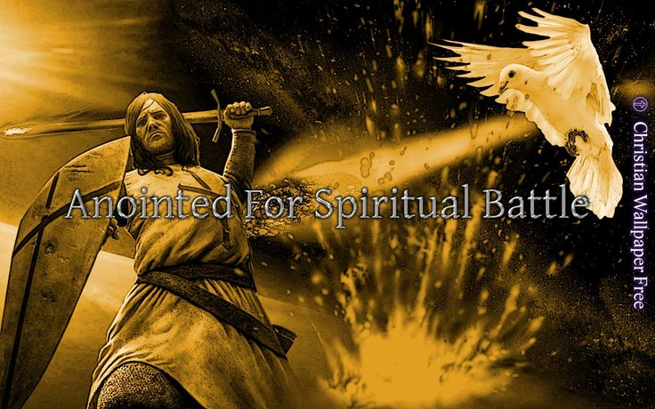 Anointed For Spiritual Battle In Gold Inked
