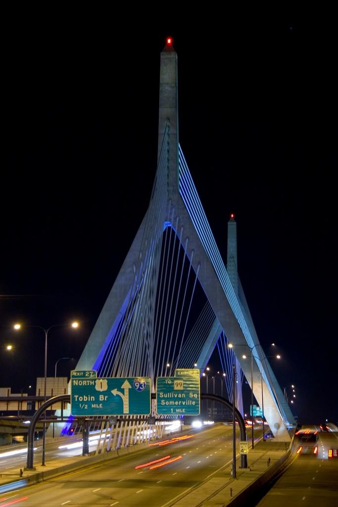 Leonard P. Zakim Bunker Hill Bridge: Boston, Massachusetts