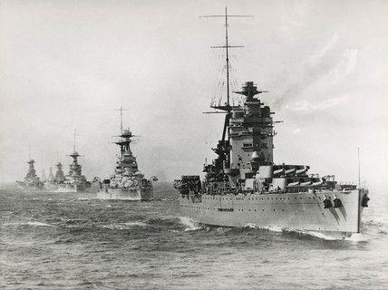 HMS Battleship Rodney leading a fleet of...heavy ships!