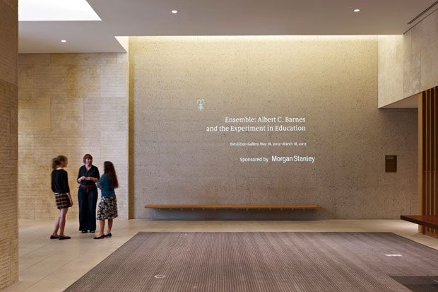 The Barnes Foundation In The Lobby A Wall Projection
