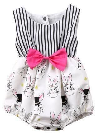 Bunny Baby Girl Romper