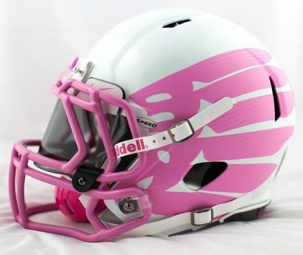 "Oregon's ""think pink"" Football Helmet"