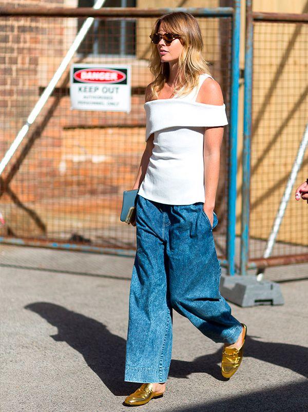 Camisa com recortes na Australian Fashion Week