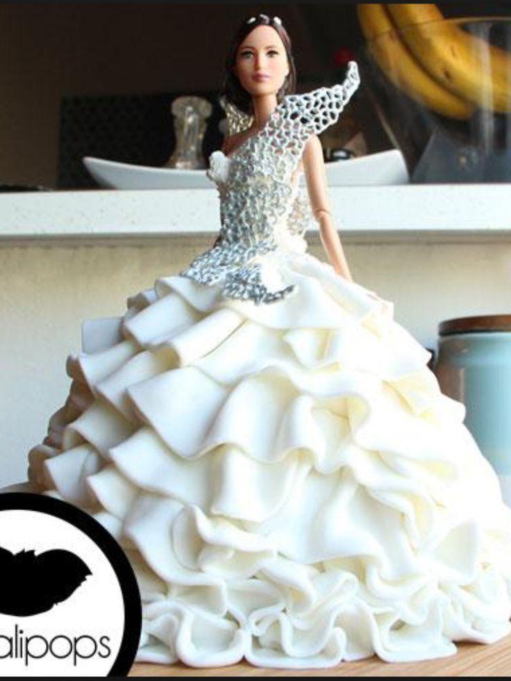 Katniss barbie cake for my birthday this year