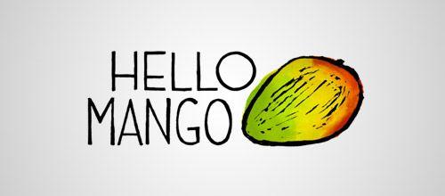 hello mango logo design