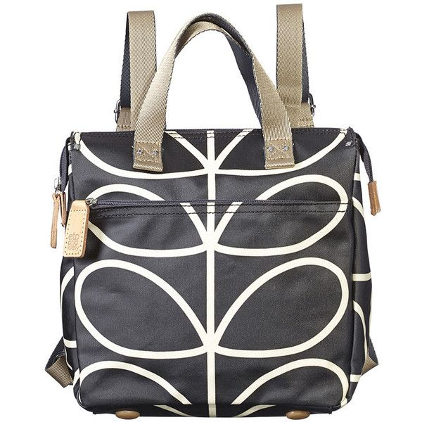 Orla Kiely Linear Stem Small Backpack (£105) ❤ liked on Polyvore featuring bags, backpacks, tote backpack, print backpacks, tote handbags, orla kiely tote and orla kiely bags