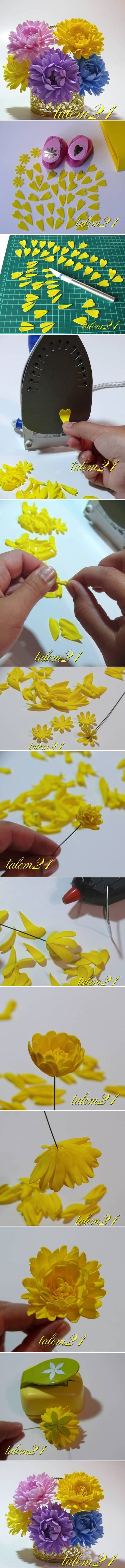 DIY Small Chrysanthemum Flower DIY Projects | UsefulDIY.com Follow Us on Facebook ==> http://www.facebook.com/UsefulDiy