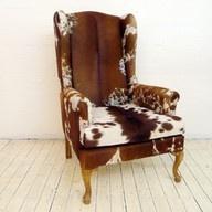 cowhideDecor Ideas, Cabin Rustic Chairs, Cows Hiding Decor, Hiding Chairs, Cows Chairs, Animal Prints Chairs, Cows Hiding Furniture, Furniture Ideas, Cowhide Chairs