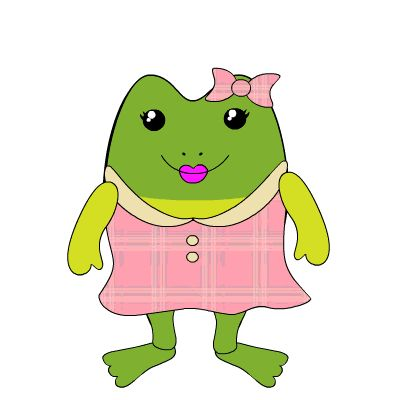 Frog Cartoon Images Girl   10 FREE Adorable Animated Frogs ...