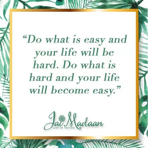 Do what is easy and your life will be hard. Do what is hard and your life will become easy. #inspiration #QOTD https://t.co/AYxGZk26Il