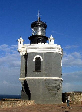 San Juan. Fort San Felipe del Morro. Lighthouse. Puerto Rico