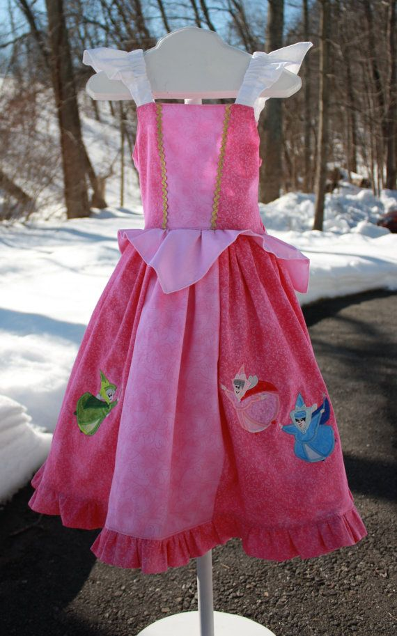 Custom Sleeping Beauty princess Aurora dress  by OoDeeLallyDesigns, $85.00