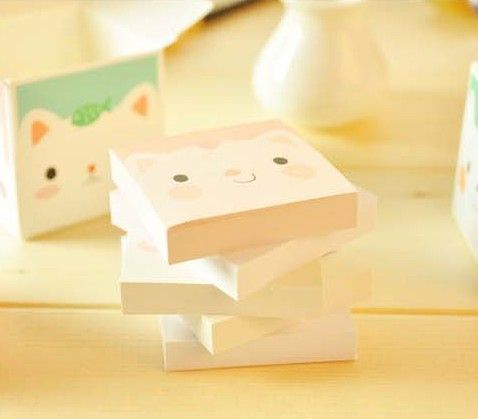 Stationery Notes  Paper Mini Notes Small Animal Memo Pad 5 Book Per Box