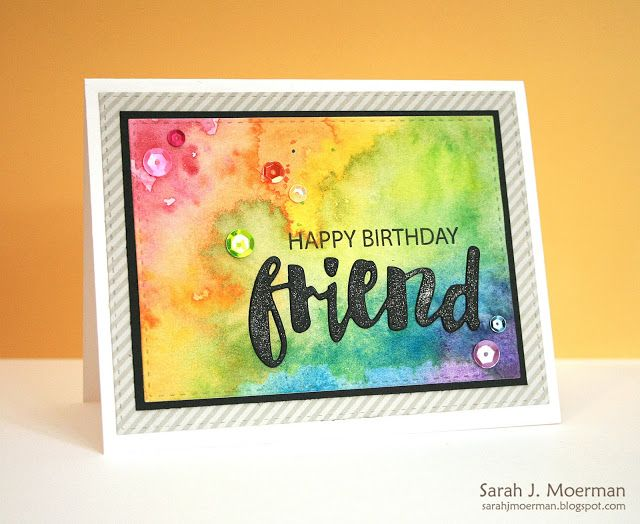My Impressions: Happy Birthday Friend Card & Simon Says Stamp June Card Kit Winner!
