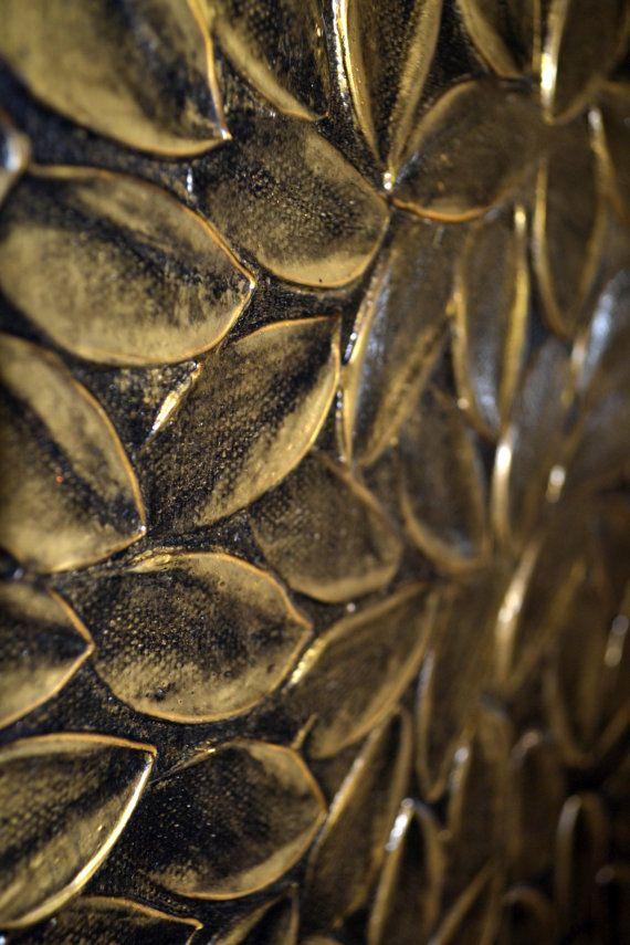 Martellata arte Modern Home Decor foglie d'oro di ZarasShop