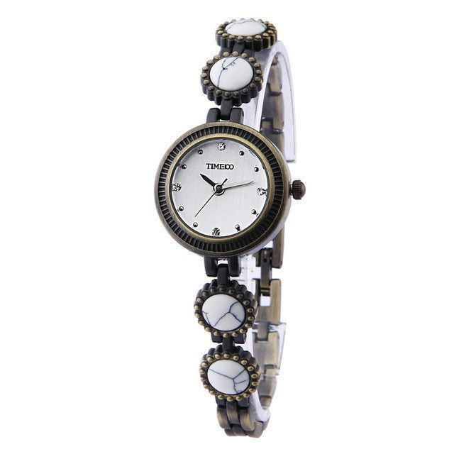 European Vintage Fashion Watches Women's Bracelet Watches Small Dial Stainless Steel