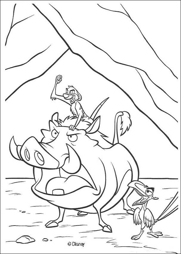 Timon And Pumbaa The Lion King Coloring Page With Images King