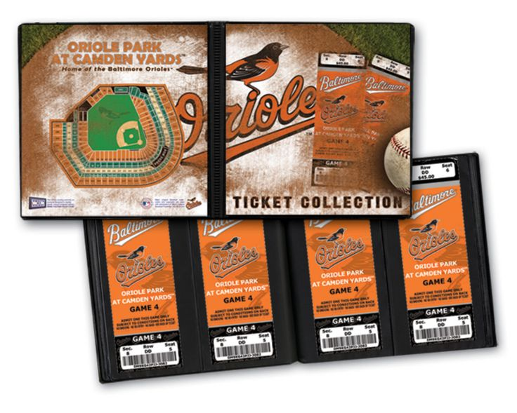 Ticket Album MLB - Baltimore Orioles (Holds 64 Tickets)