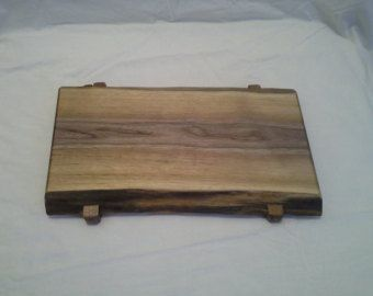 Live edge solid walnut cutting or serving by SawmillWoodcrafts