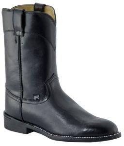 Justin Basics Men's Black Cow Roper Boots | Cavender's