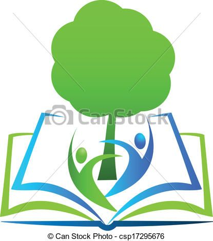 Vector - Book tree students logo - stock illustration, royalty free…