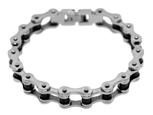 Stainless Steel Two Tone Ladies Bike Chain Bracelet Ark Design Studios. $39.00. ladies bracelet. motorcycle chain bracelet. Stainless Steel Bracelets. bracelet
