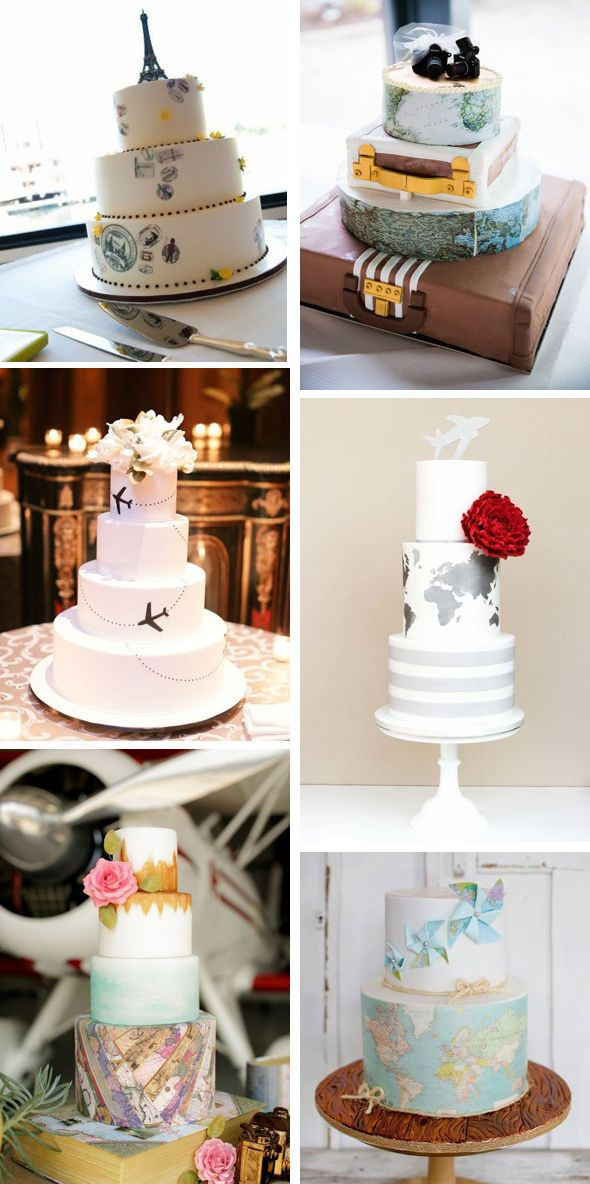 Cakes for the traveling couple | Around the World Cakes ...