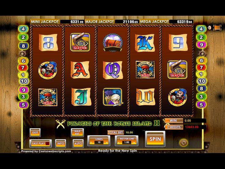 Buy Video Slot game for Online Casino - Pirates of Bonus Island II Video Slot Game