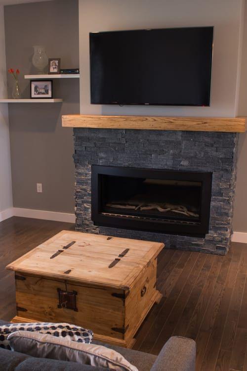 Rise | The Atlanta - Living Room  fireplace makeover | fireplace decor | fireplace ideas | fireplace mantle decor