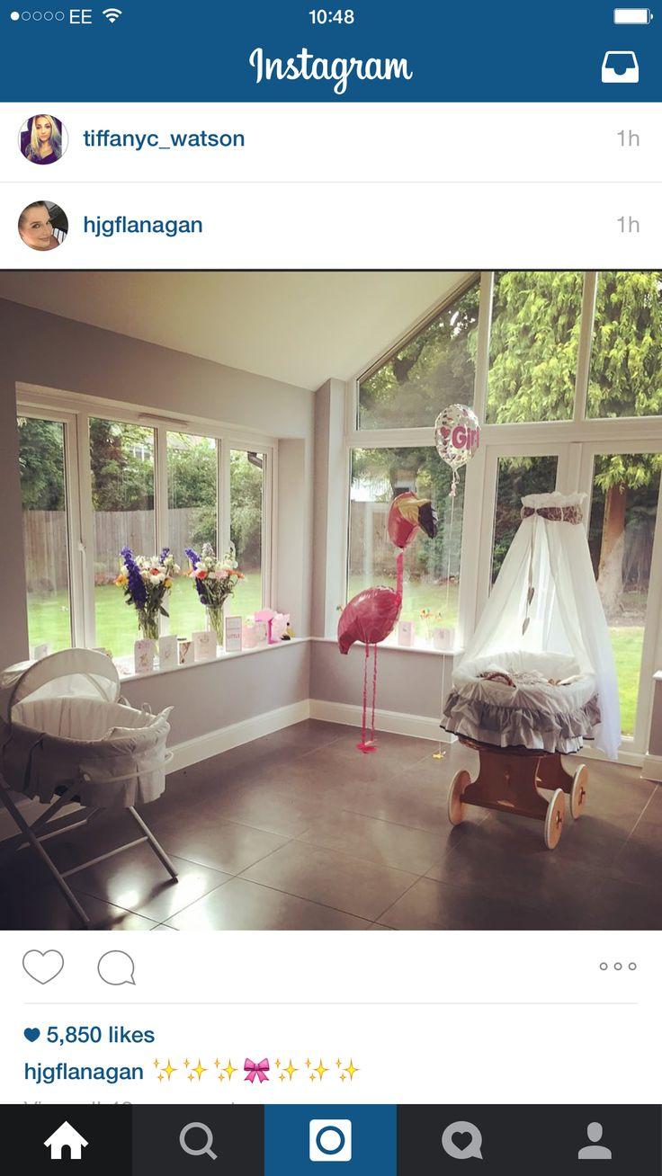 Helen Flanagan's baby crib